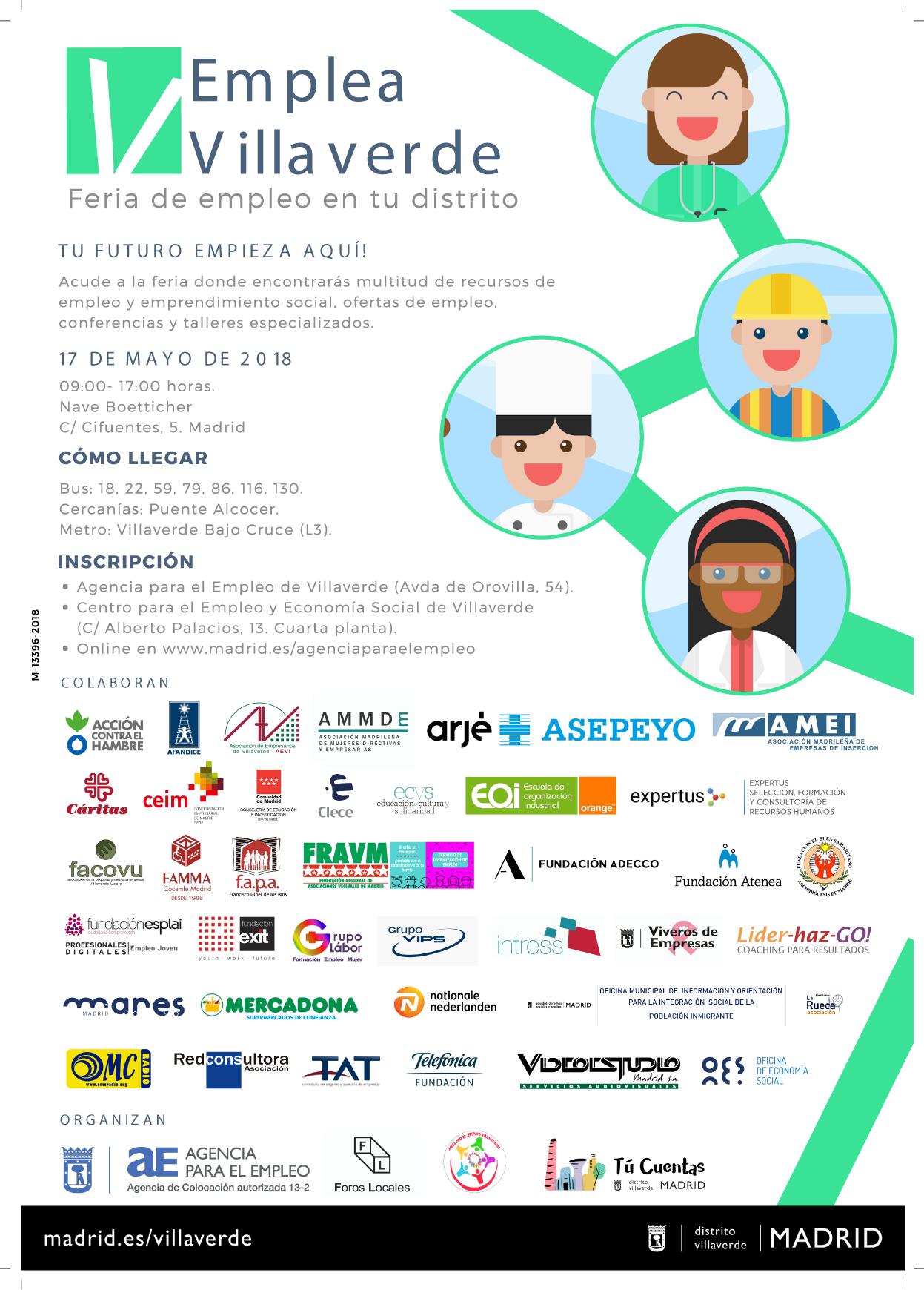 Cartel-Feria-Empleo Villaverde